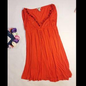 Vertigo Paris red mini dress v neck crystal size L